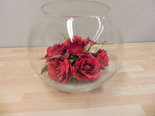 Rose Arrangement in Fish Bowl