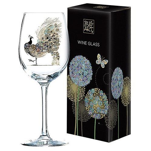 Bug Art Wine Glass - Peacock