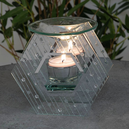 Mirror Glass Raindrop Design Oil Burner