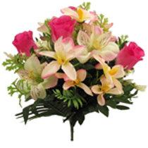 Rosebud/Alstro & Orchid Bush - Cerise