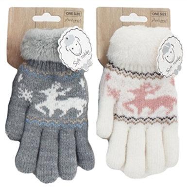 Kids Reindeer Gloves