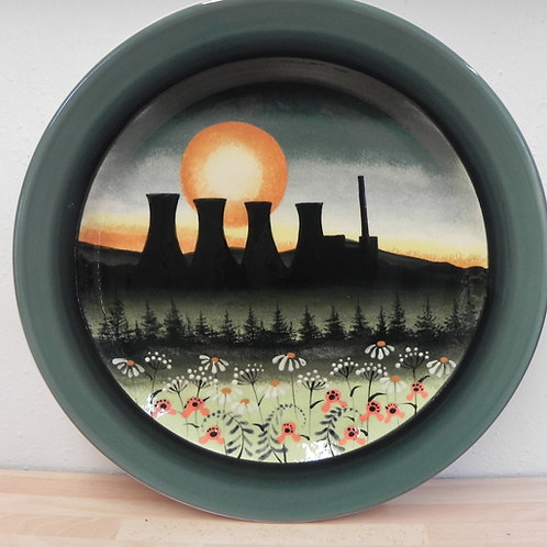 Rachel Frost Pottery Cooling Towers Charger