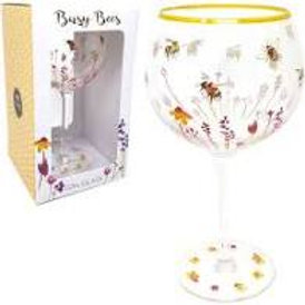 Busy Bees Gin Glass