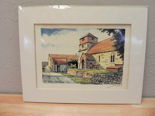 Print - St Giles Church, Barrow