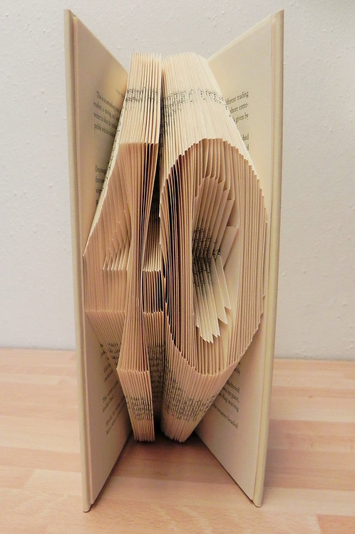 Local Arts & Crafts - Folded Book Art, 40th Birthday