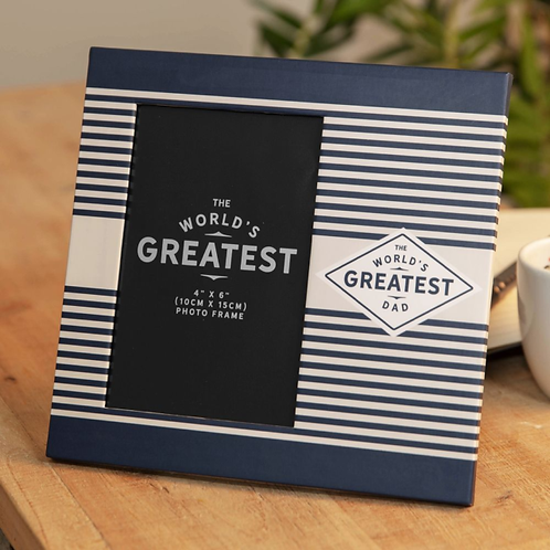 Worlds Greatest Dad Photo Frame 4 x 6
