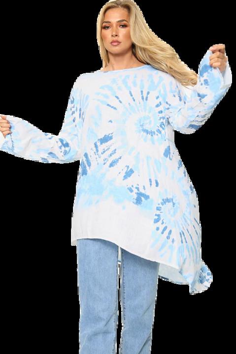 Tie Dye Swirl Print Tunic