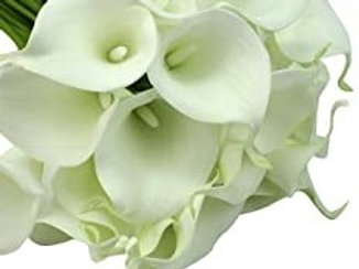 Real Touch Calla Lily - White