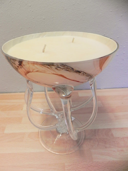 Candle Bowl - Apricot Earth