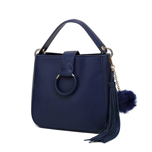Navy Top Handle Bag