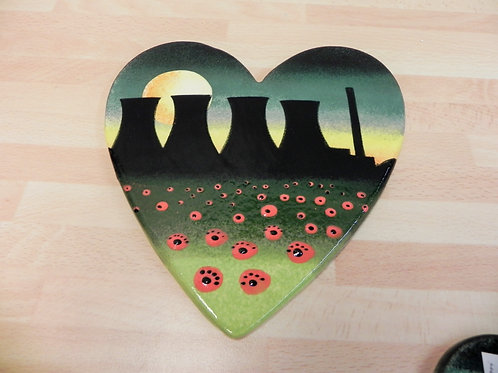 Rachel Frost Pottery Large Heart Cooling Towers