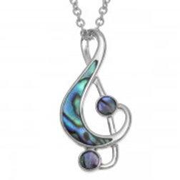 Tide Jewellery - Treble Clef Necklace