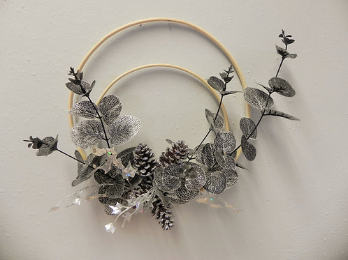 Double Hoop Silver Wreath