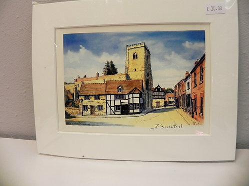 Print - The Bullring, Much Wenlock