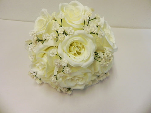Ivory Rose & Gypsophila Bridesmaid Bouquet