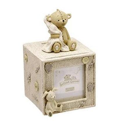 Button Corner Cube Money Box