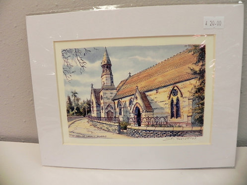 Print - St. Mary's Church, Jackfield