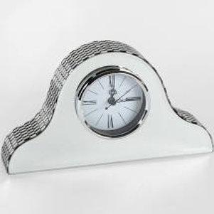 Hestia Glass Mirror Napolean Mantel Clock