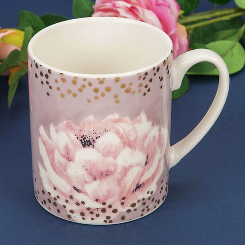 Swan Lake Pink Floral New Bone China Mug
