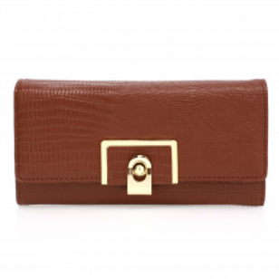 Brown Flap Crocodile Purse