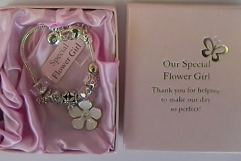 Occasion Gifts - Flower Girl Charm Bracelet