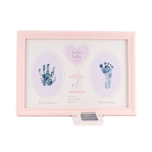 Hello Baby Handprint Frame 'Baby Girl'