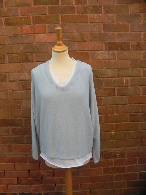 2 Piece Jumper Set - Pale Blue