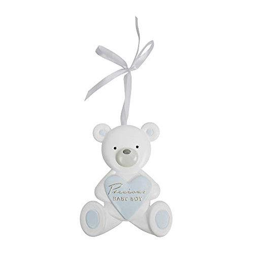 Bambino Teddy Bear Plaque - Blue