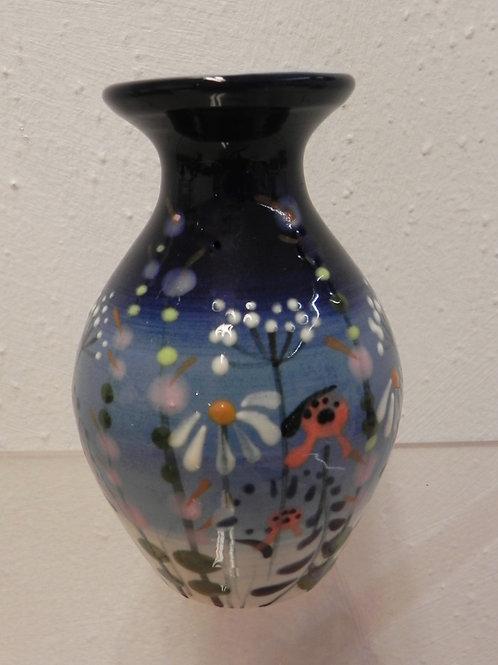 Rachel Frost Pottery Mini Vase - Blue Meadow