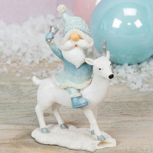 Santa & Reindeer Figurine