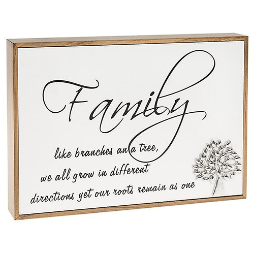 Love Lines Family Plaque