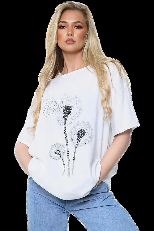 Dandelion Flower Print Top