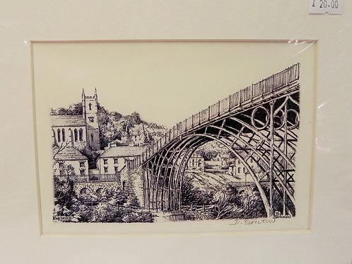 Print - Ironbridge & Church