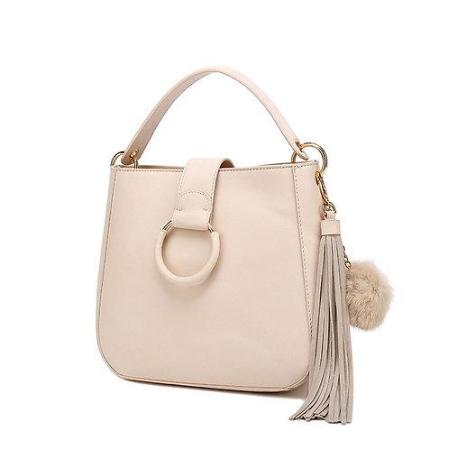 Beige Top Handle Bag