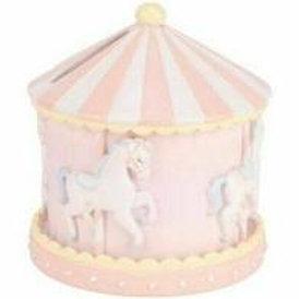 Carousel Money Box - Pink