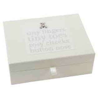 Bambino Tiny Fingers & Toes Keepsake Drawer Box