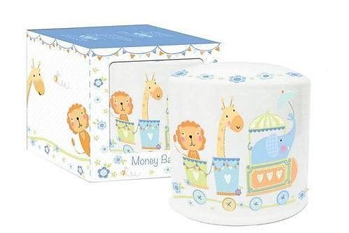 Dotty Tots Money Box - Blue