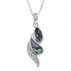 Tide Jewellery - Paua Shell & Crystal Necklace