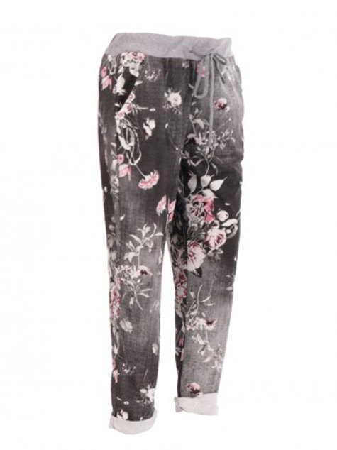 Italian Floral Print Trousers