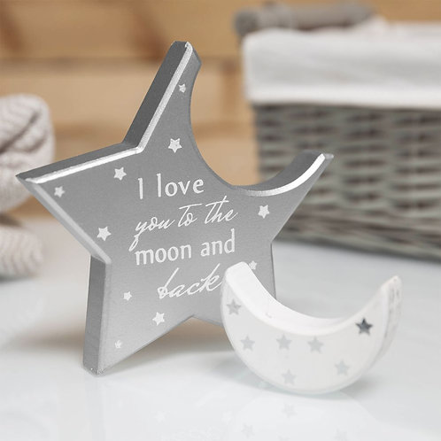 Twinkle Twinkle Moon and Star Mantel Plaque