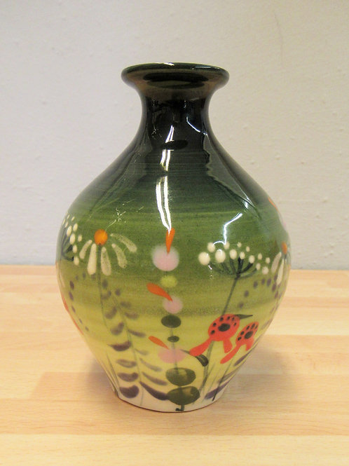 Rachel Frost Pottery Mini Vase - Green Meadow