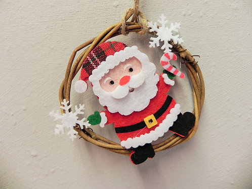 Rattan Festive Wreath Decoration