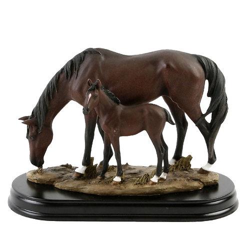 Horse & Foal Figurine
