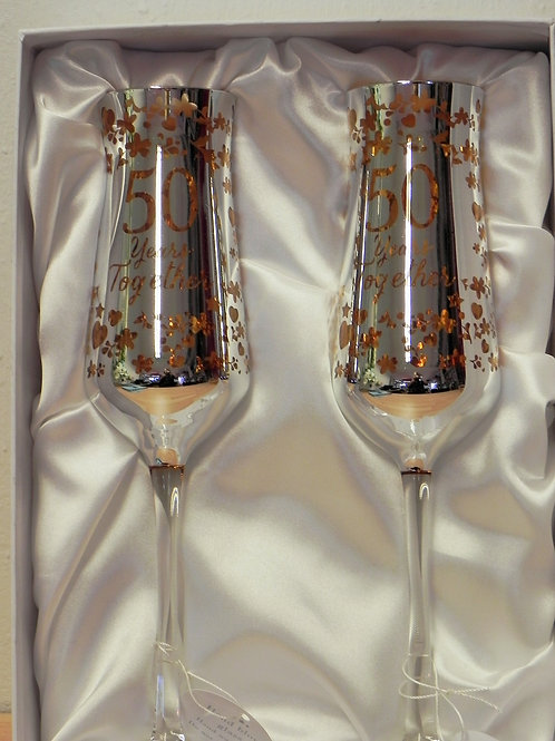 Occasion Gifts - 50th Anniversary Champagne Flutes