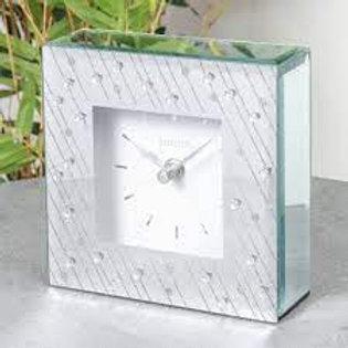 Mirror Glass Raindrop Design Mantel Clock