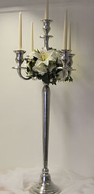 5 Arm Candlebra | Available to hire | All occasions | Shropshire