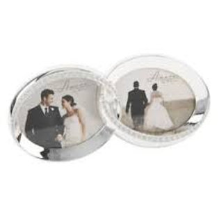 Amore Wedding Rings Double Frame