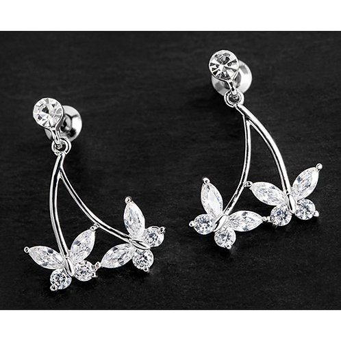 Equilibrium Dangly Butterfly Earrings