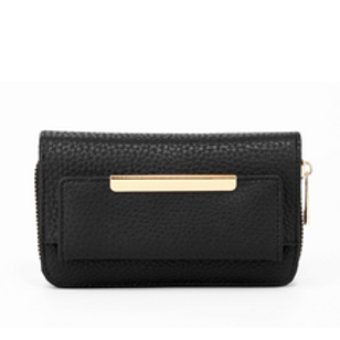 Black Zip Around Purse/Wallet