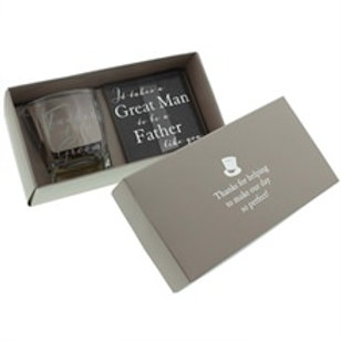 Occasion Gifts - Whisky Glass & Coaster Set